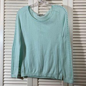 LOFT Lattice Sleeve Sweater